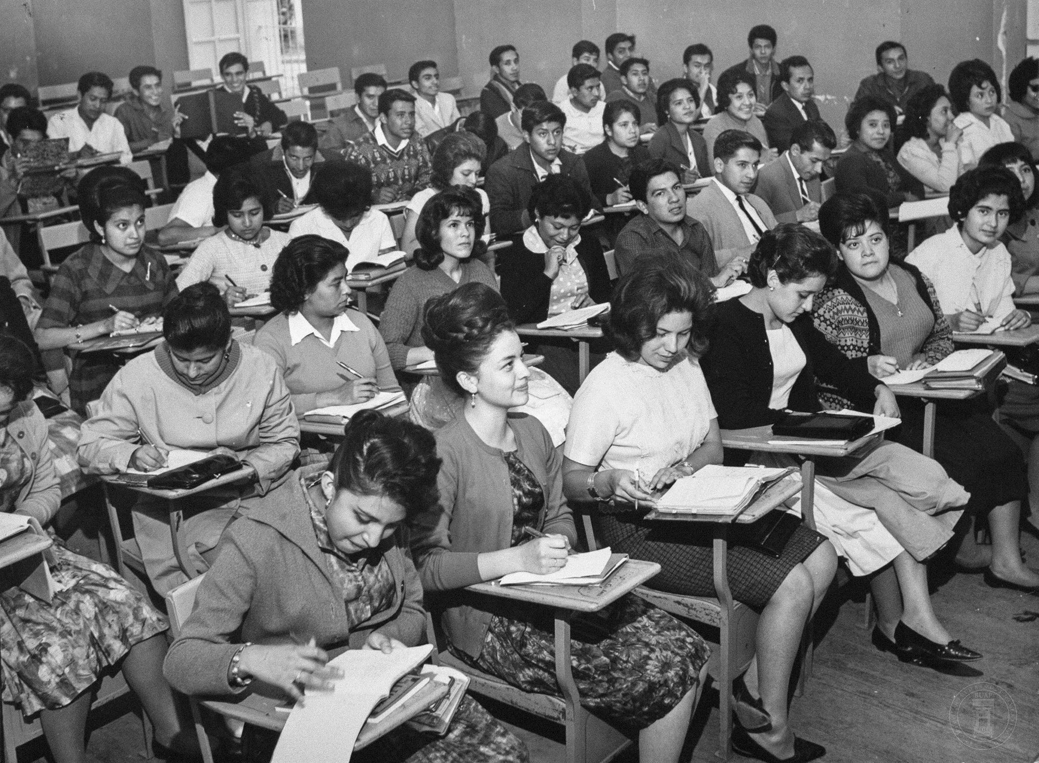Alumnas de la UAP en la década de 1960
